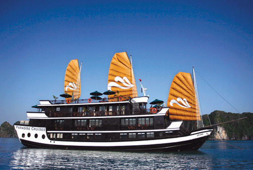 Paradise Cruise  Halong Bay Cruise  Junk  Vietnam Travel Vietnam TourTou